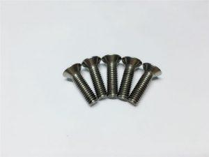 M3, vidhosë titani M6 me kapak të sheshtë të kapakut të kokës së kapakut të titaniumit për operacionin kurrizor