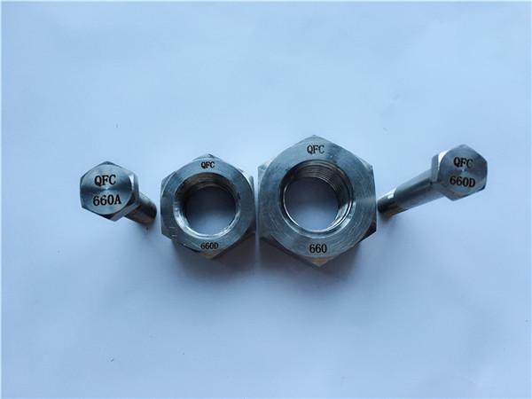 bulona dhe arra aliazh 660 hekëse, fasteners din1.4980