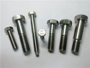 Nr.25-Incoloy a286 bulonave të heks. 1.4980 a286 fasteners gh2132 çelik