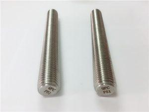 Nr.77 Shporta çeliku inox Duplex 2205 S32205 shufra çeliku inox DIN975 DIN976 shufra fije F51