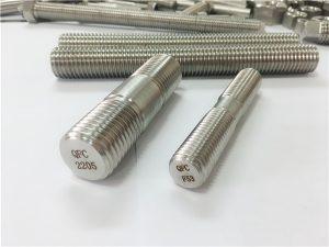 No.80-duplex 2205 S32205 2507 S32750 1.4410 fastener hardware me cilësi të lartë, spirancë prej druri të filetuar