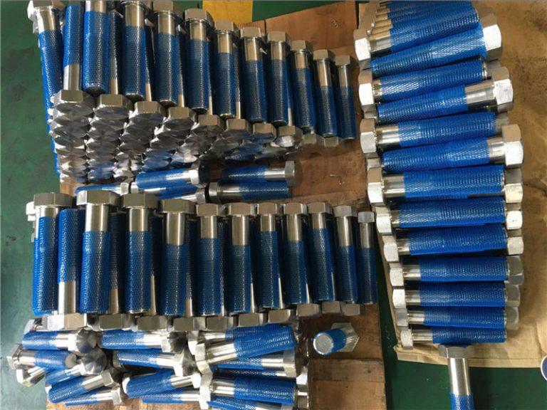 sus 304l en1.4306 ss fastener bulbs hex iso4014 gjysmë fije