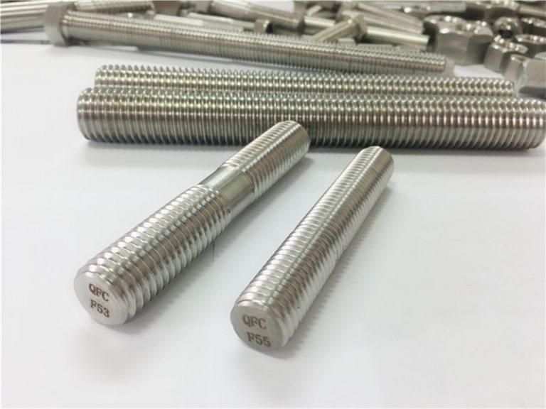 shirita të çelikut të pandryshkshëm të përpunuar me automatikë, shufra me fillesë të dyfishtë