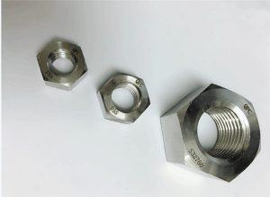 Dupleks 2205 / F55 / 1.4501 / S32760 fasteners prej çeliku të pandryshkshëm arrë të fortë prej hekuri M20