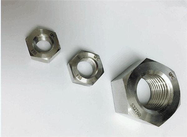dupleks 2205 / f55 / 1.4501 / s32760 fasteners çelik inox heks i rëndë me arrë m20